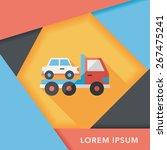 transportation truck flat icon... | Shutterstock .eps vector #267475241
