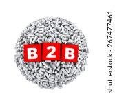 3d rendering of b2b cubes boxes ...   Shutterstock . vector #267477461