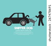 sniffer dog smell at car's... | Shutterstock .eps vector #267478691