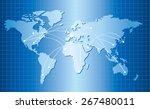 world map vector | Shutterstock .eps vector #267480011