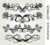 vector ornament in flower style   Shutterstock .eps vector #26748028