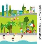 city life | Shutterstock .eps vector #267493331