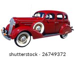 1936 classic isolated with... | Shutterstock . vector #26749372