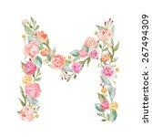 Watercolor Floral Monogram...