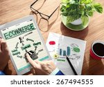 digital online marketing e... | Shutterstock . vector #267494555