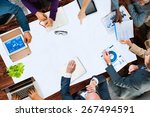 group of business discussion... | Shutterstock . vector #267494591