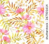 beautiful seamless floral... | Shutterstock .eps vector #267501614