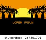 vector illustration. tropical... | Shutterstock .eps vector #267501701