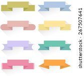 modern colored ribbons and... | Shutterstock . vector #267507641