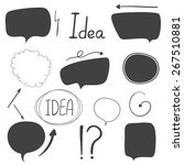 doodle sketch speech bubble...   Shutterstock .eps vector #267510881