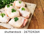 Raw Chicken Thighs With Parsley ...