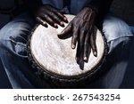 close up of hands of a black... | Shutterstock . vector #267543254