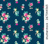 seamless floral pattern with... | Shutterstock .eps vector #267544565