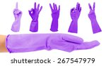 purple gloves gesturing numbers ... | Shutterstock . vector #267547979