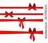 red gift ribbons. vector | Shutterstock .eps vector #267550151
