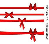 red gift ribbons. vector | Shutterstock .eps vector #267550151