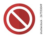 access denied red flat icon   | Shutterstock . vector #267553049