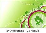 clovers green background. Happy four petals - stock vector