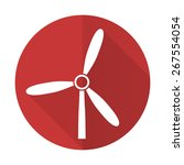 windmill red flat icon... | Shutterstock . vector #267554054