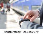 On Platform Station A Man Usin...