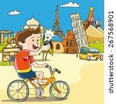 vector illustration. young man... | Shutterstock .eps vector #267568901