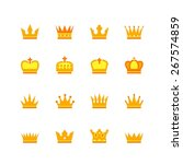 color crown icons | Shutterstock .eps vector #267574859