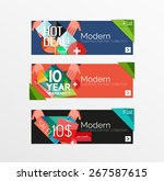 set of banners with stickers ... | Shutterstock .eps vector #267587615