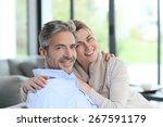 portrait of mature couple...   Shutterstock . vector #267591179
