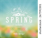 fresh spring typographical... | Shutterstock .eps vector #267592301