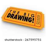 the big drawing words on an... | Shutterstock . vector #267595751