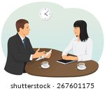 business meeting in the office. ... | Shutterstock .eps vector #267601175