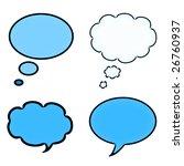 set of four blue speech bubbles | Shutterstock . vector #26760937