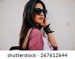 beautiful girl | Shutterstock . vector #267612644