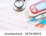 blood sugar monitor with lancet ...   Shutterstock . vector #267618041