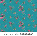 ditsy floral pattern in vector | Shutterstock .eps vector #267626765