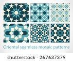 oriental seamless mosaic...   Shutterstock .eps vector #267637379