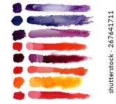 vector colorful volumetric... | Shutterstock .eps vector #267641711