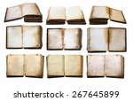 vintage books set  vector