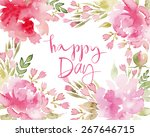 watercolor greeting card... | Shutterstock .eps vector #267646715