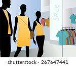 window in fashion dress market... | Shutterstock . vector #267647441