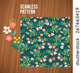 seamless floral pattern.... | Shutterstock .eps vector #267663419