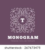 simple and graceful monogram... | Shutterstock .eps vector #267673475