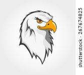 vector bald eagle bird head... | Shutterstock .eps vector #267674825
