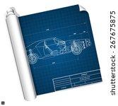 blueprint vehicle internal... | Shutterstock .eps vector #267675875