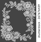 lace corner | Shutterstock .eps vector #267676439