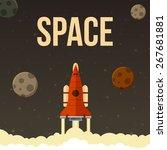 rocket vector illustration that ... | Shutterstock .eps vector #267681881