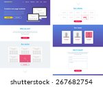 one page website design... | Shutterstock .eps vector #267682754