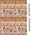 indian paisley textile print   Shutterstock .eps vector #267690791