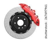 automobile braking system.... | Shutterstock . vector #267697961