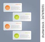 business infographics template...   Shutterstock .eps vector #267698351